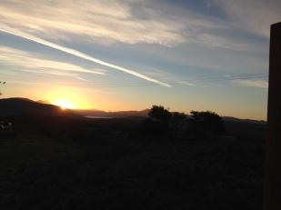 Sunset from Skye Shepherd Huts, Heast, Isle of Skye